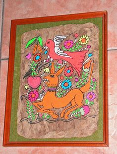 ON SALE Vintage Amate Bark Mexican Folk Art by retrosideshow, $59.99