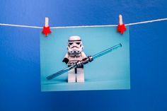 """Darth Trooper"" Lego Minifigure Postcard (by Mark Cann Photography)"