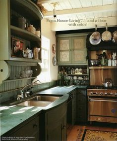 A contemporary interpretation of an Early American Kitchen
