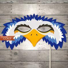 DIY Printable Blue Eagle Mask  Mardi Gras Birthdays