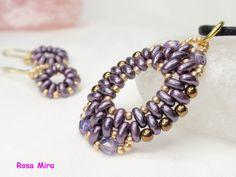 Con perlas y a lo loco...: Conjunto con nuevos tonos de twin beads CO.0286 y PE.0284
