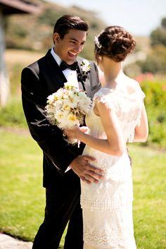 Santa Monica Wedding by Kristen Weaver Photography | Style Me Pretty