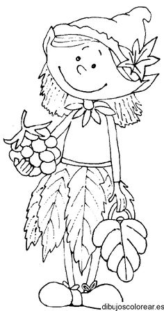 Dibujos de Duendes | Dibujos para Colorear Art Drawings For Kids, Art For Kids, Colouring Pages, Coloring Books, Fall Crafts For Toddlers, Doodle People, Wal Art, Autumn Crafts, Fall Projects