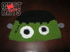 Frankenstein Hat by MustLoveHats on Etsy, $15.00
