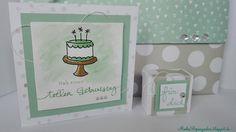 Große Clutch, Geburtstagspuzzle Karte, Box mit Envelope Punch Board