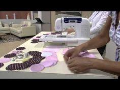 Mulher.com 25/11/2013 Almofada quadrada em patchwork e patchaplique -- parte 2 - Cissa Mesquita - YouTube