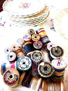 my vintage thread spools