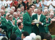 The traditional blazer worn by Masters Tournament winners. It uses wool fabric produced at the Victor Forstmann Inc. mill in the central Georgia town of Dublin.