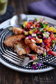 ムネカラのチョップドサラダ - Chicken Karaage ChopedSalad