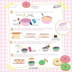 Donuts I Recette C-MonEtiquette - Appetizer Recipes Cooking With Kids, Cooking Tips, My Recipes, Cake Recipes, Kids Meals, Easy Meals, Cake Factory, Delicious Donuts, Tupperware