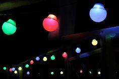 #partylichterkette mit LED-Birnen für #haus oder #garten