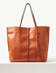 54516801010 Faux Leather Shopper Bag | Marks & Spencer London Shopper Tote, Madewell