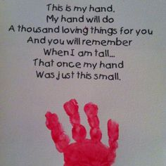 Keepsake Handprint Poem Grandparents Day Activity ...
