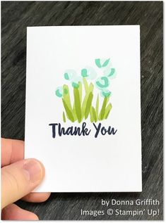 Abstract Impressions, Stampin' Up!, by Donna Griffith, thank you card