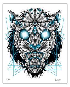 'Jaguar' T-shirt design by Pale Horse - Fancy T-shirts Pale Horse, Horse Art, Illustration Art, Illustrations, Fine Art Paper, Jaguar, Printed Shirts, Giclee Print, Fine Art Prints