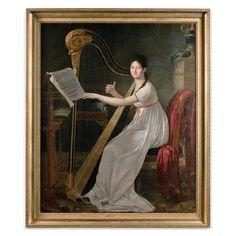 Adèle Papin jouant la harpe par Guillaume-Guillon-Lethiere, Paris 1799 Paris In December, Dan Paris, Adele, Art And Architecture, Auction, Partition, Artist, Empire, Paintings
