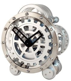 Gear Clock  Watch the gears move while clock runs. Takes 2 D batteries (not included)  Availability: Usually ships in 2-3 business days  $99.00