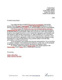 Sample Student Teacher Recommendation Letters VNqmvof  Producers