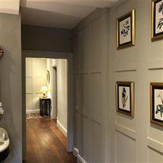 Farrow & Ball - Old White Farrow Ball, Interior Walls, Interior And Exterior, Interior Design, Home Sitting, Skimming Stone, Narrow Entryway, Small Hallways, Hallway Decorating