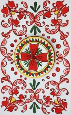 Folk Puchug painting from Northern Russia. Floral pattern. #folk #art #Russian #patterns
