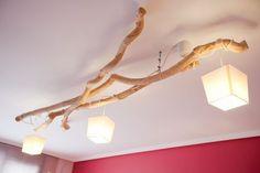 Spa Interior, Interior Design Living Room, Driftwood Chandelier, Rama Seca, Diy Arts And Crafts, Home Lighting, Decoration, Lamp Light, Bedroom Decor