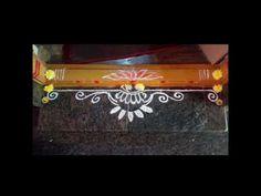 Rangoli Designs Simple Diwali, Rangoli Side Designs, Simple Rangoli Border Designs, Rangoli Borders, Free Hand Rangoli Design, Small Rangoli Design, Rangoli Ideas, Rangoli Designs With Dots, Rangoli With Dots