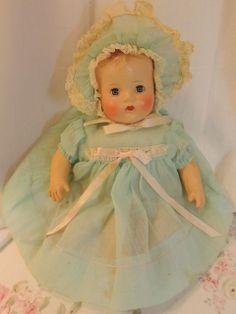 Vintage hard plastic baby doll.