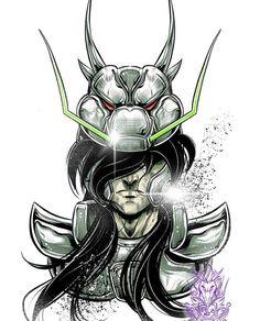 Manga Anime, Old Anime, Anime Art, Anime Tattoos, Disney Tattoos, Knights Of The Zodiac, Tattoo Project, Nerd Geek, Anime Comics