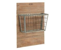 Wire baskets have always been useful for holding things and this one grabs attention with its wood backed wall hanging. You can be creative, but it's perfect as a place to stash the incoming mail or to drop your magazines.