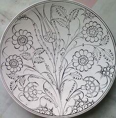 Turkish Design, Turkish Art, Turkish Tiles, Clay Plates, Ceramic Plates, Do It Yourself Wedding, Flower Embroidery Designs, China Painting, Owl Art