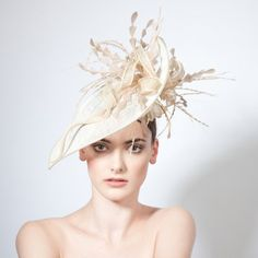 Adur- Petal Brimmed Hat with Feather & Twist