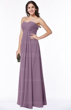Valerian Simple A-line Sleeveless Zip up Chiffon Pleated Plus Size Bridesmaid Dresses (Style D09412)