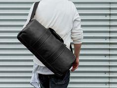 Scholar MFG. Overnight Duffle Bag in Black: #scholarmfg #smfg