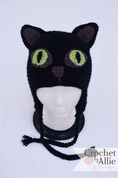 Crochet Cat Hat | Crochet by Allie Baby Girl Crochet, Crochet Beanie, Love Crochet, Crochet Hats, Toothless Pattern, Sewing Patterns, Crochet Patterns, Cat Hat, Headgear