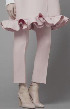 Sweet pink ruffle details