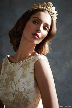 alan hannah bridal 2014 timeless beauty betttie sleeveless wedding dress byzantium tiara