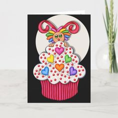 Valentine - Cupcake Creature - Be Mine Card Easy Diy Crafts, Diy Craft Projects, Diy Crafts To Sell, Golf Crafts, Diy Father's Day Gifts, Valentine's Day Diy, Diy Crafts For Teen Girls, Diy For Kids, Easy Diy Costumes
