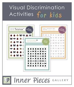 has a few free printables in the members section.Visual Discrimination Activities for Kids. Grid mazes, image tracking and letter tracking all build visual discrimination skills while strengthening visual tracking skills, essential for reading. Visual Motor Activities, Visual Perceptual Activities, Therapy Activities, Activities For Kids, Reading Activities, Sensory Activities, Pediatric Occupational Therapy, Visual Memory, Special Education
