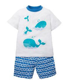 Whale Shortie Pyjama Set - pyjamas - Mothercare