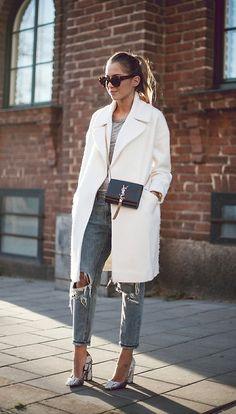 white wool coat | streetstyle | autumn style | autumn look | style inspiration | autumn outfit
