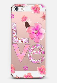 Love Blossom Pink iPhone SE case by @corinnehaig | @casetify