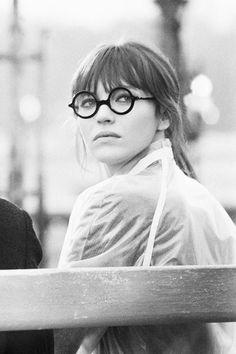 """Anna Karina on the set of """"Anna"""" (1967)"""
