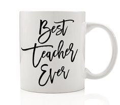If I have to, I'd gladly teach lessons privately to high school students. I think it would be very satisfying and rewarding. Best Teacher Ever, Teacher Favorite Things, Tall Coffee Mugs, High School Students, Teacher Appreciation, Elementary Schools, Teacher Gifts, White Ceramics, Things To Think About
