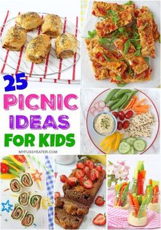25 Easy & Healthy Picnic Food Ideas for Kids! 25 Easy & Healthy Picnic Food Ideas for Kids!<br> 25 Easy & Healthy Picnic Food Ideas for Kids! Kids Picnic Foods, Picknick Snacks, Beach Picnic Foods, Best Picnic Food, Healthy Picnic Foods, Vegan Picnic, Picnic Lunches, Beach Meals, Healthy Snacks