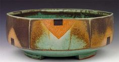 Jeff Oestreich, salt fired bowl