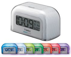 timex alarm clock with 0 7 red display color purple products rh pinterest com timex color changing alarm clock instructions Loud Annoying Alarm Clocks