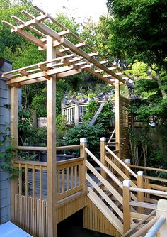 Go to our website to see Japanese garden structures that beautifully enhance a garden such as viewing pavilions, entrance gates, wooden bridges, pergolas.