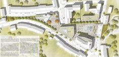2. Preis Bachelor, Master Plan, Urban Design, Planer, Uni, Landscape Design, Landscaping, How To Plan, Drawing