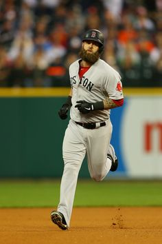 Mike Napoli #12 of the Boston Red Sox runs the bases after hitting a seventh inning homerun against the Detroit Tigers during Game 3 of the ALCS on 10.15.13