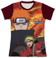 Naruto Shippuden T-Shirt - Pain & Sage Mode Naruto (Junior S) Naruto Vs, Naruto Shippuden, Sublime Shirt, Pre Paid, News Online, Just For You, Baseball, Mens Tops, T Shirt
